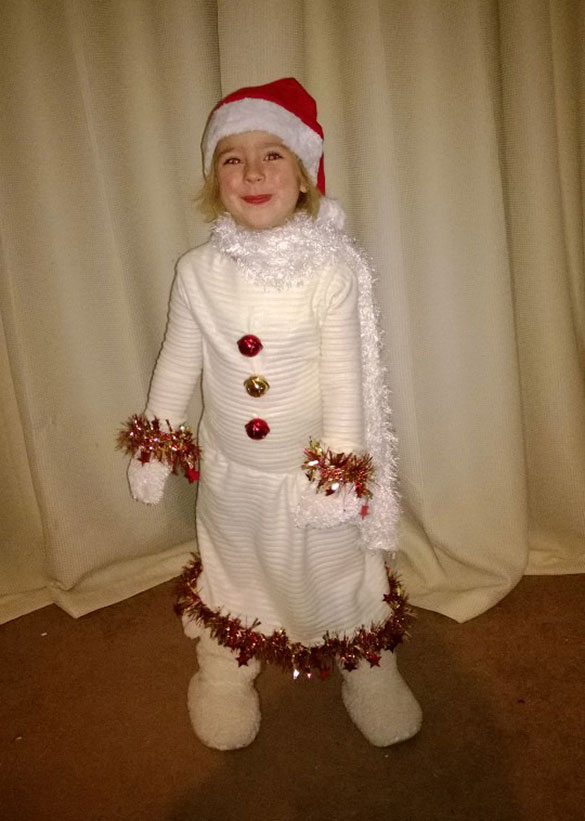 Willow's snowman costume