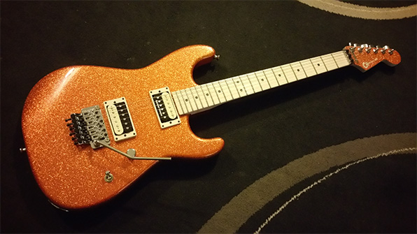 My Charvel Pro Mod Super Stock SD1-FR (Orange Flake) laid bare