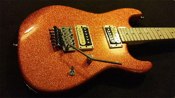 Seymour Duncan '59 and Semour Duncan JB in the Charvel Pro Mod Super Stock SD1-FR (Orange Flake)