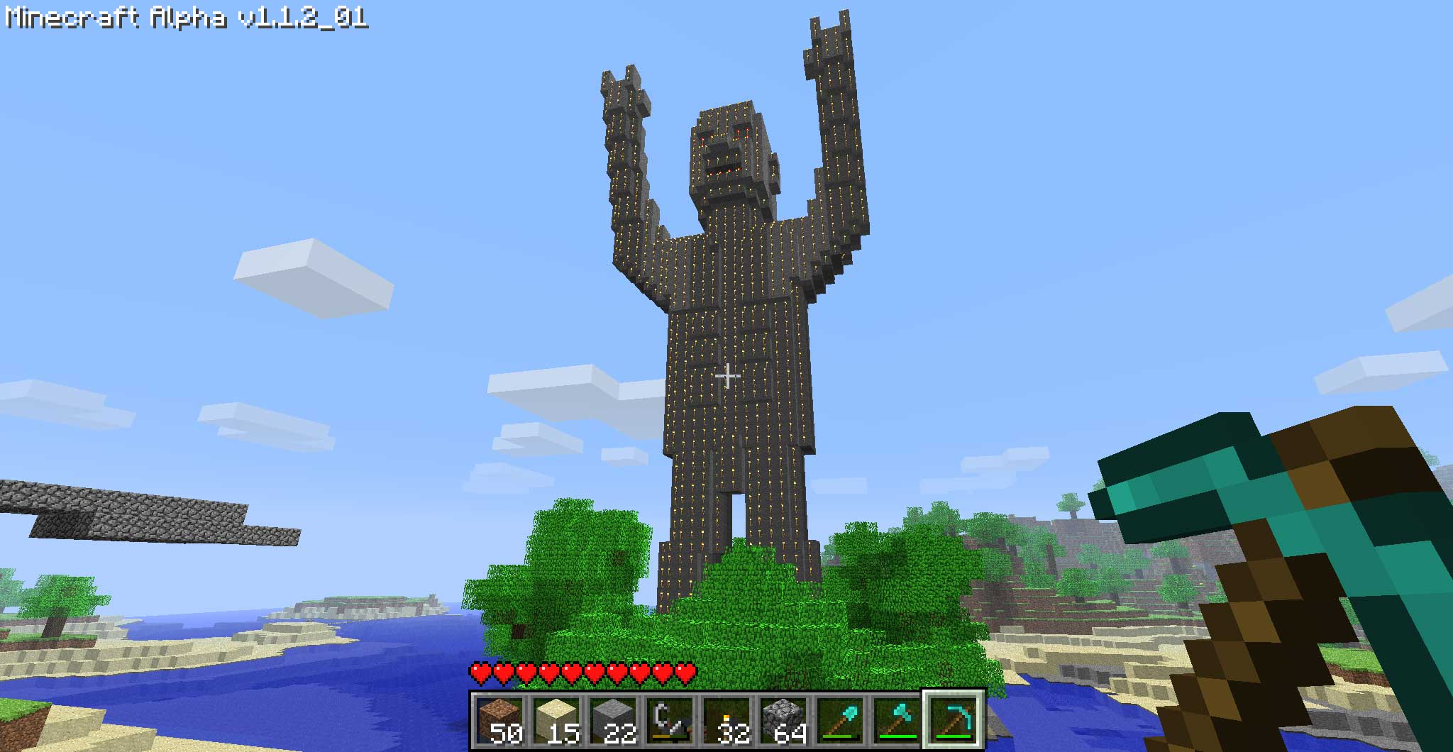 how to build a statue on minecraft